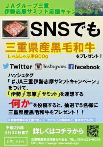 SNSキャンペーンポスター